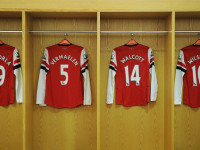 Arsenal's iconic changing room